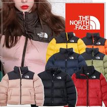THE NORTH FACE Nuptse Short Unisex Street Style Oversized Khaki Down Jackets