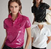 POLO RALPH LAUREN Casual Style Short Sleeves Party Style Elegant Style