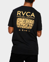 RVCA Unisex Street Style Plain Short Sleeves T-Shirts