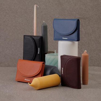Unisex Plain Leather Bold Small Wallet Coin Cases