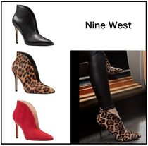 Nine West Leopard Patterns Casual Style Suede Street Style Plain