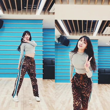 Leopard Patterns Casual Style Unisex Street Style Pants