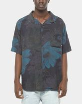 STUSSY Button-down Flower Patterns Short Sleeves Skater Style