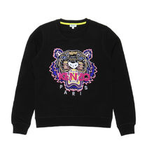 KENZO Crew Neck Short Long Sleeves Cotton Cropped