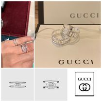 GUCCI Unisex Party Style Silver Rings