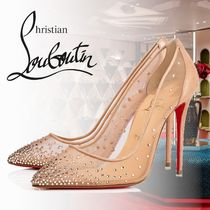 Christian Louboutin Plain With Jewels High Heel Pumps & Mules