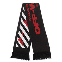 Off-White Wool Cotton Scarves