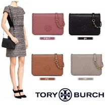 Tory Burch Casual Style Calfskin Street Style Plain Leather Party Style