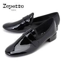 repetto Enamel Plain Leather Loafer & Moccasin Shoes