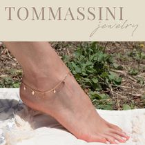 TOMMASSINI JEWELRY Cross Silver 14K Gold Anklets
