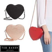 TED BAKER Heart Casual Style 2WAY Chain Plain Leather Party Style