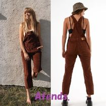 AFENDS Dungarees Casual Style Corduroy Street Style Plain Cotton