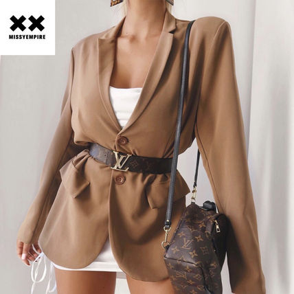 Casual Style Plain Party Style Office Style Oversized