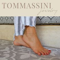 TOMMASSINI JEWELRY Chain Silver 14K Gold Anklets