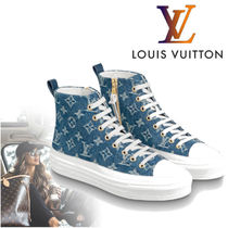 Louis Vuitton Monogram Rubber Sole Casual Style Low-Top Sneakers
