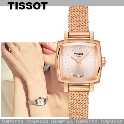 Square Quartz Watches Stainless Elegant Style Formal Style