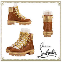 Christian Louboutin Mountain Boots Plain Leather Outdoor Boots