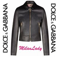 Dolce & Gabbana Short Casual Style Street Style Plain Leather Party Style