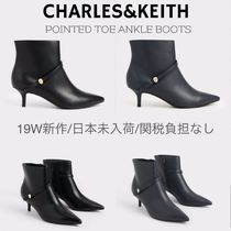 Charles&Keith Casual Style Plain Elegant Style Ankle & Booties Boots