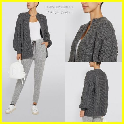 Cable Knit Wool Plain Sweaters