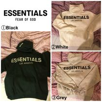 FEAR OF GOD ESSENTIALS Pullovers Street Style Long Sleeves Cotton Hoodies