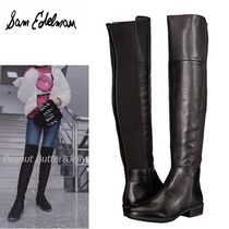 Sam Edelman Round Toe Casual Style Plain Leather Over-the-Knee Boots