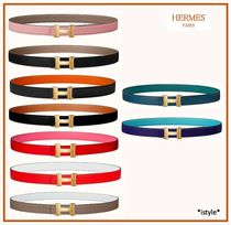 HERMES CONSTANCE Plain Leather Office Style Elegant Style Belts