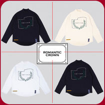 ROMANTIC CROWN Unisex Street Style Long Sleeves Cotton Oversized