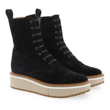 Lace-up Leather Boots Boots