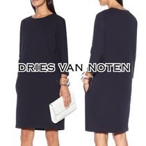 Dries Van Noten Casual Style Long Sleeves Plain Cotton Medium Dresses