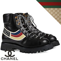 GUCCI Mountain Boots Leather Outdoor Boots