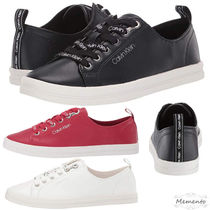 Calvin Klein Rubber Sole Casual Style Street Style Plain Low-Top Sneakers