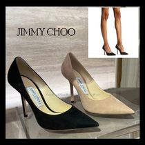Jimmy Choo Suede Plain Pin Heels Pointed Toe Pumps & Mules