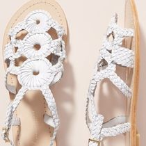 Anthropologie Open Toe Casual Style Street Style Plain Sandals