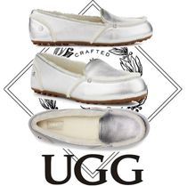 UGG Australia Moccasin Casual Style Sheepskin Suede Flats
