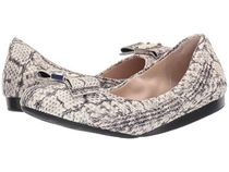 Cole Haan Round Toe Rubber Sole Leather Office Style Python Flats