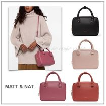 MATT&NAT Casual Style Faux Fur 2WAY Plain Elegant Style Handbags