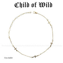 Child of Wild Casual Style Cross Anklets