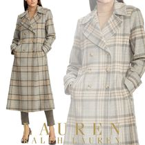Ralph Lauren Glen Patterns Wool Long Elegant Style Peacoats