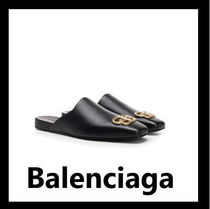 BALENCIAGA Plain Leather Sandals