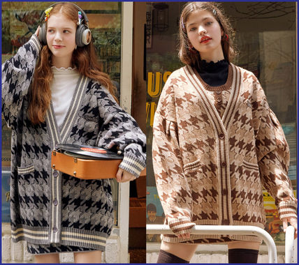 Other Plaid Patterns Casual Style Street Style Long Sleeves