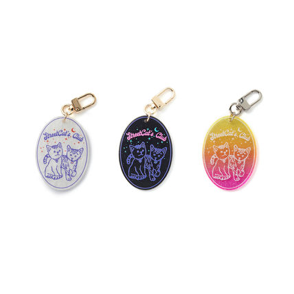 Street Style Logo Keychains & Bag Charms