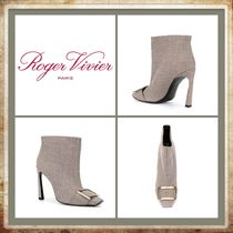 Roger Vivier Other Check Patterns Casual Style Leather Pin Heels