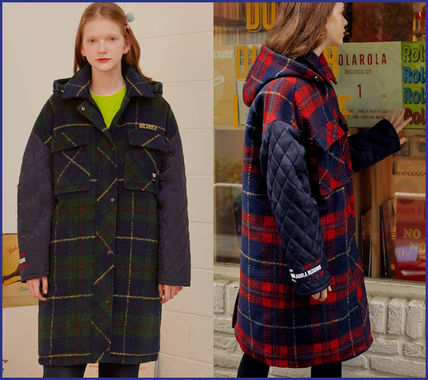 Logo Other Plaid Patterns Tartan Casual Style Long