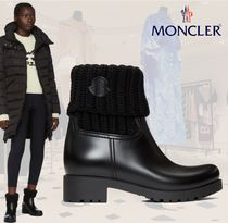 MONCLER Round Toe Rubber Sole Plain Ankle & Booties Boots
