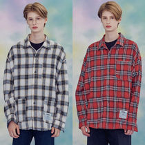 AQOstudiospace Other Check Patterns Casual Style Unisex Street Style