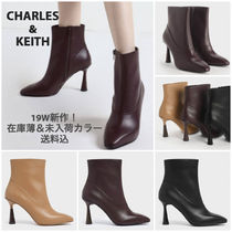 Charles&Keith Square Toe Plain Toe Faux Fur Plain Other Animal Patterns