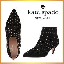 kate spade new york Dots Open Toe Suede Leather Ankle & Booties Boots