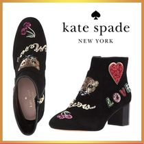 kate spade new york Suede Leather Ankle & Booties Boots