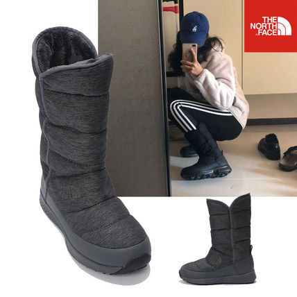 THE NORTH FACE Ankle & Booties Rubber Sole Casual Style Unisex Street Style Plain